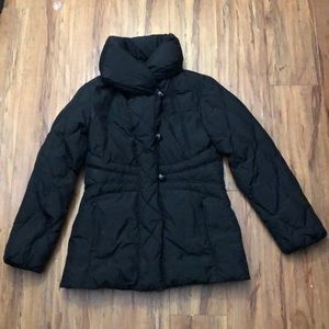 LARRY LEVINE Black Down Quilted Puffer Jacket S